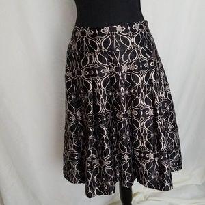 Mossimo Silky Full Black & Cream Skirt
